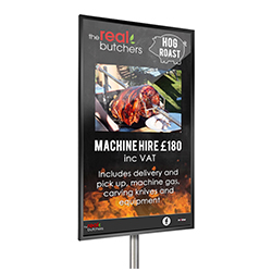 inVoke Digital Signage outward-facing advertising screens