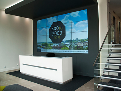 inVoke Digital Signage video wall installation at The Union Building, Norwich