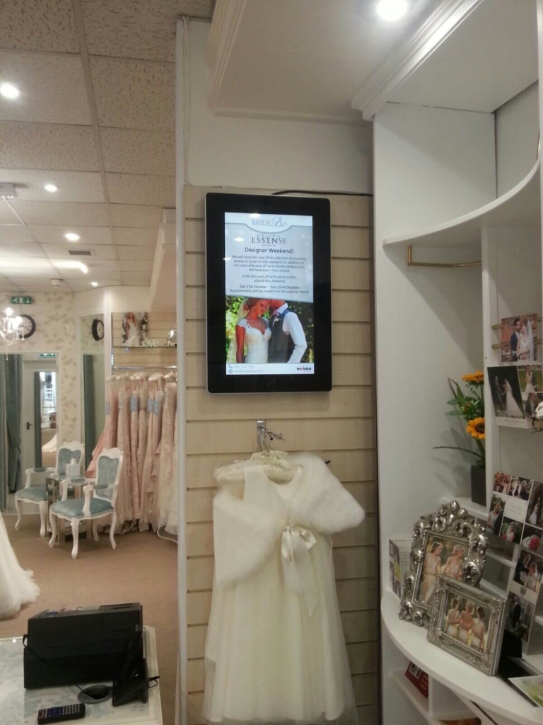 inVoke Digital Signage Android advertising displays slimline model.